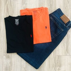 Men's Polo Ralph Lauren Orange T-Shirt